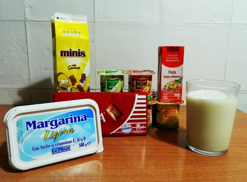 Alimentos con lactosa