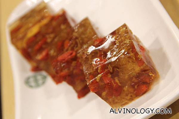Tonic Medlar & Osmanthus Cake (S$3.50) - this is good, must-try