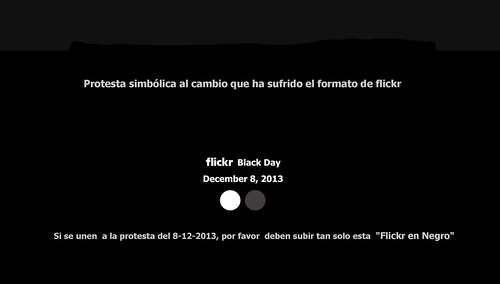 Flickr Black Day (Flickr en Negro) by jaklumen & family