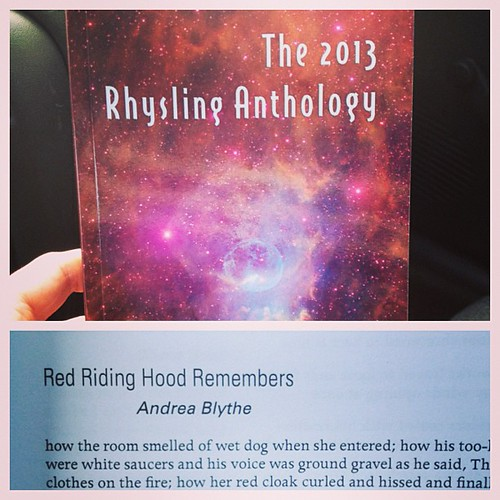 Got the 2014 Rhysling Anthology in the mail today with my poem inside! Can't wait to read all the great poems. So exciting! #poetry #anthology #books #rhysling #writing