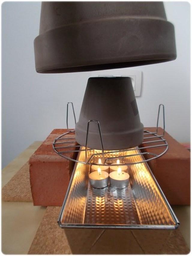 Flower pot heating