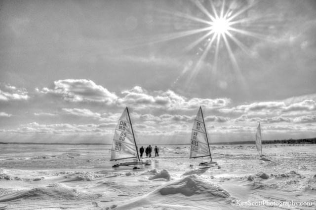 Lake Michigan ... ice boating contemplation
