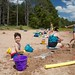 Playing in the sand at Crystal 4