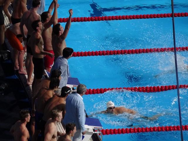 USA win the BCN2013 men's 4x200 free