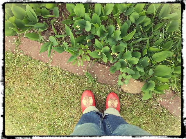 Träskor och liljekonvalj
