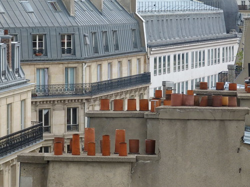 Paris rooftop pots