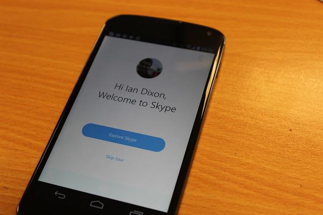 Skype on a Nexus 7