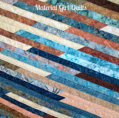 Batik Strips quilting
