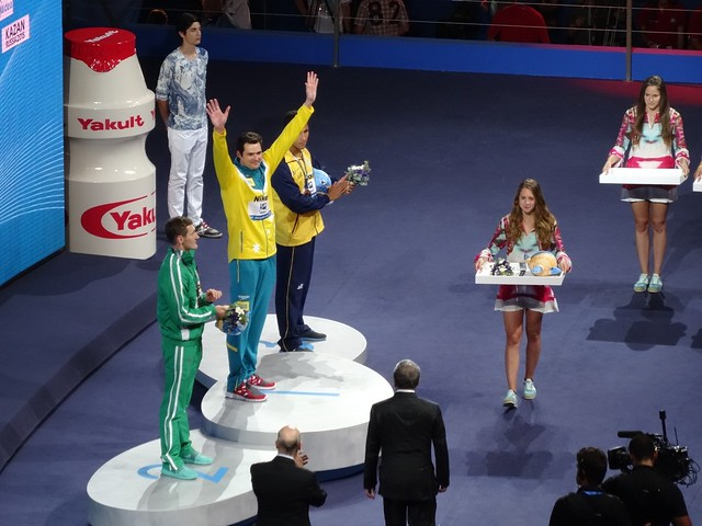 Christian Sprenger on top of the BCN2013 podium