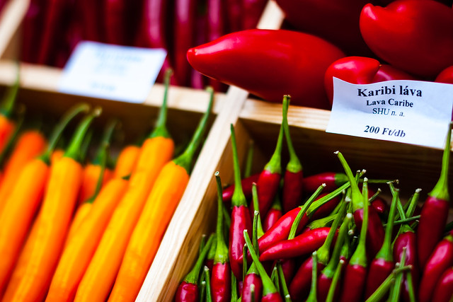 Peppers at the Farmer's Market, Budapest, Hungary