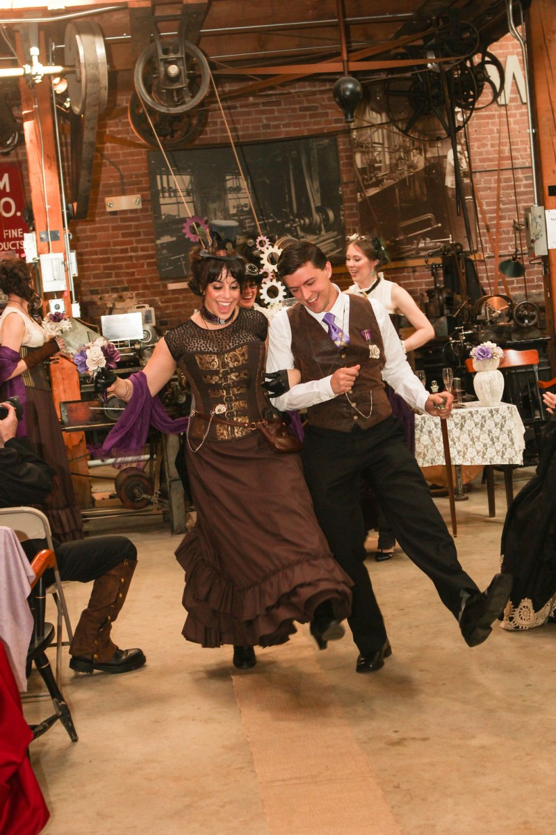 a steampunk costume theme is the most reliable way to confuse and then ultimately delight your guests