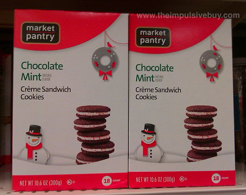 Market Pantry Chocolate Mint  Sandwich Cookies