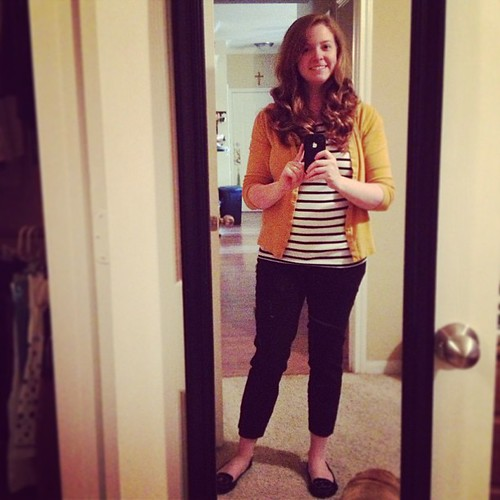 Humid Houston makes for big ol' hair in this #ootd. The stripes make me feel French, the hair makes me Texan ;)