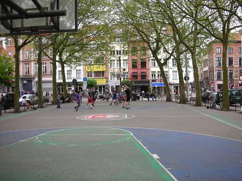 Street Basketball Court in Antwerp