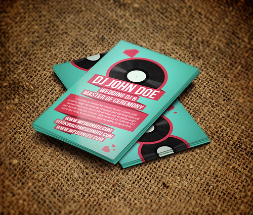 Wedding DJ Retro Business Card
