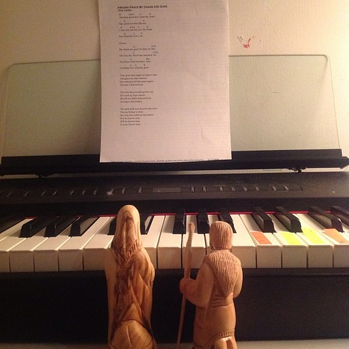 Day 14 - Mary and Joseph play Amazing Grace on the piano. by nikki.j.thorpe
