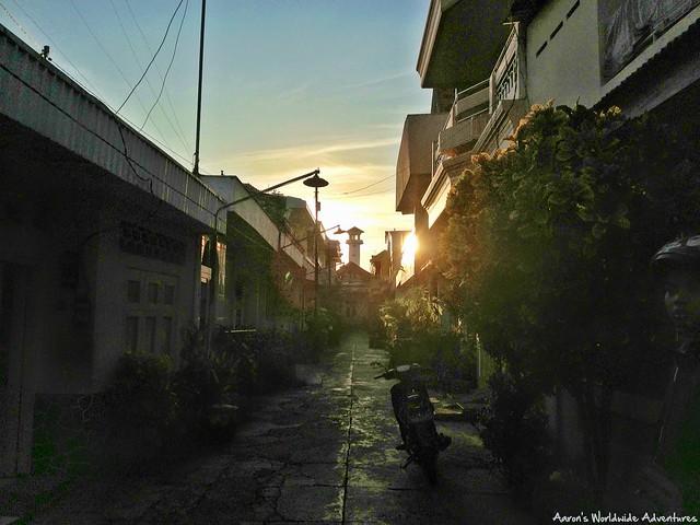 Ampel Mosque Sunset