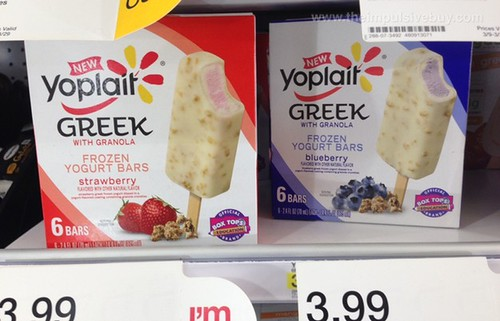 Yoplait Greek with Granola Frozen Yogurt Bars