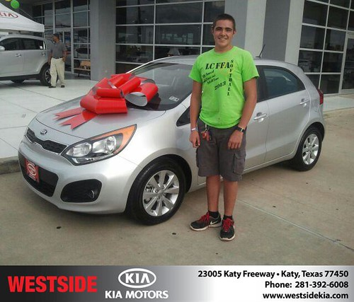Thank you to Sharif Aldroubi on the 2013 Kia Rio from Gil Guzman and everyone at Westside Kia! by Westside KIA