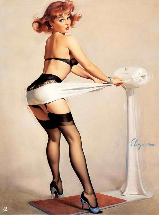 Pin Up girl from the 1960's