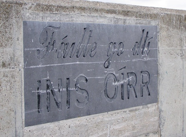 Inis Oirr welcome sign