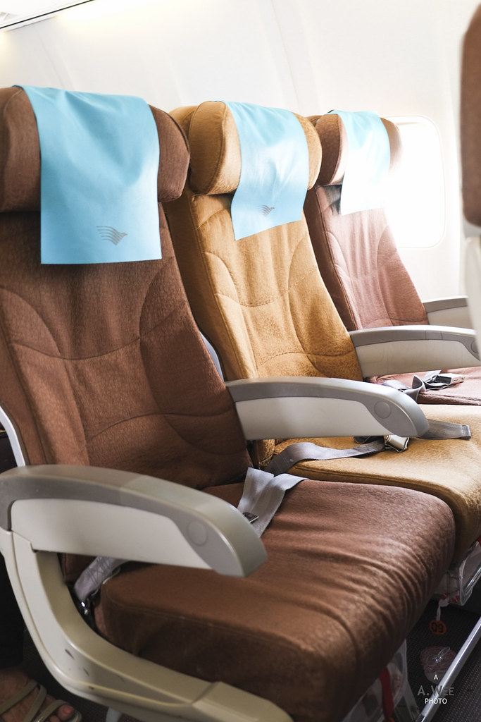 Economy class seats on Garuda's 737-800
