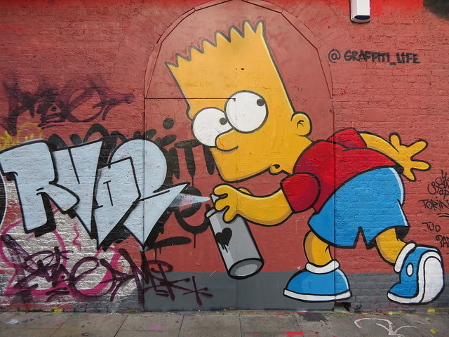 Bart Simpson by Graffiti Life