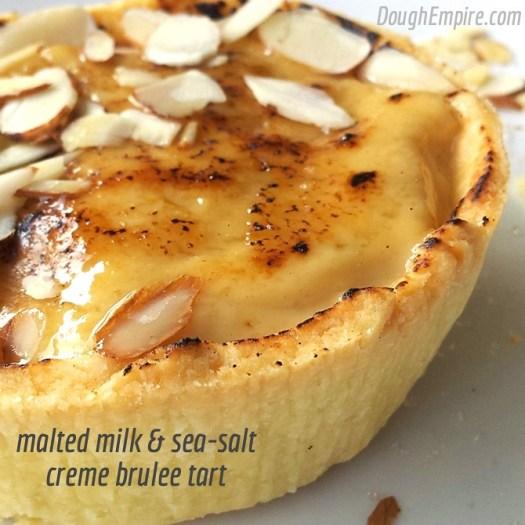 malted milk & sea-salt crème brûlée tart