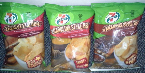 7-Select Texas, Carolina, and Memphis Style BBQ Potato Chips