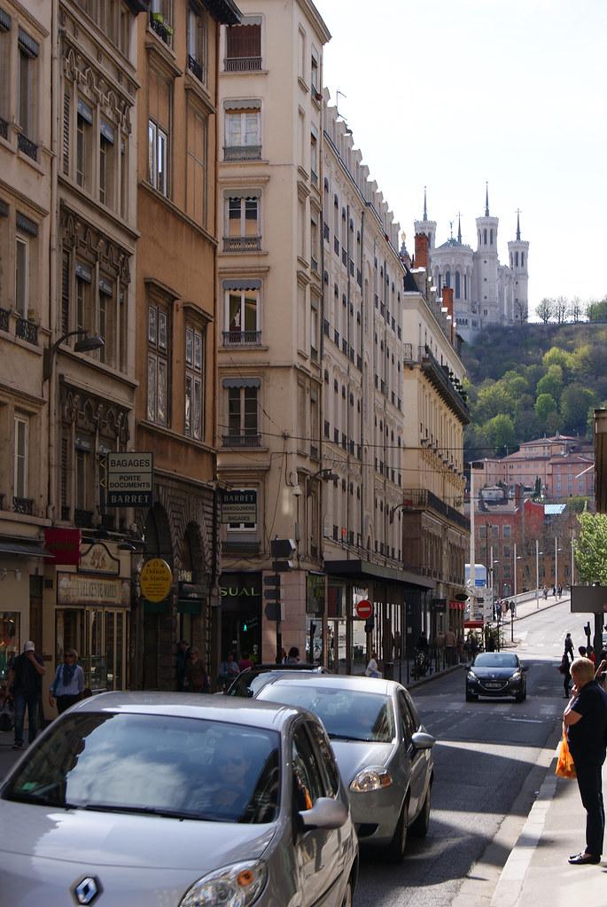 Fourvière depuis la rue Grenette