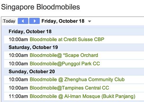 Singapore Bloodmobiles — Donorweb
