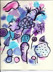 Watercolor Purple Step 2
