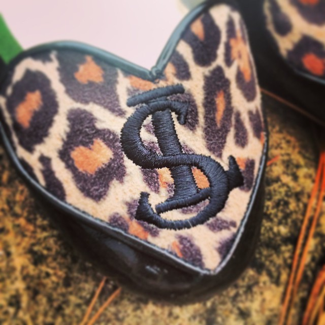 London Sole leopard heart flats