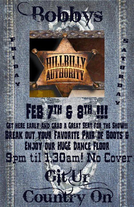 Hillbilly Authority 2-7, 2-8-14