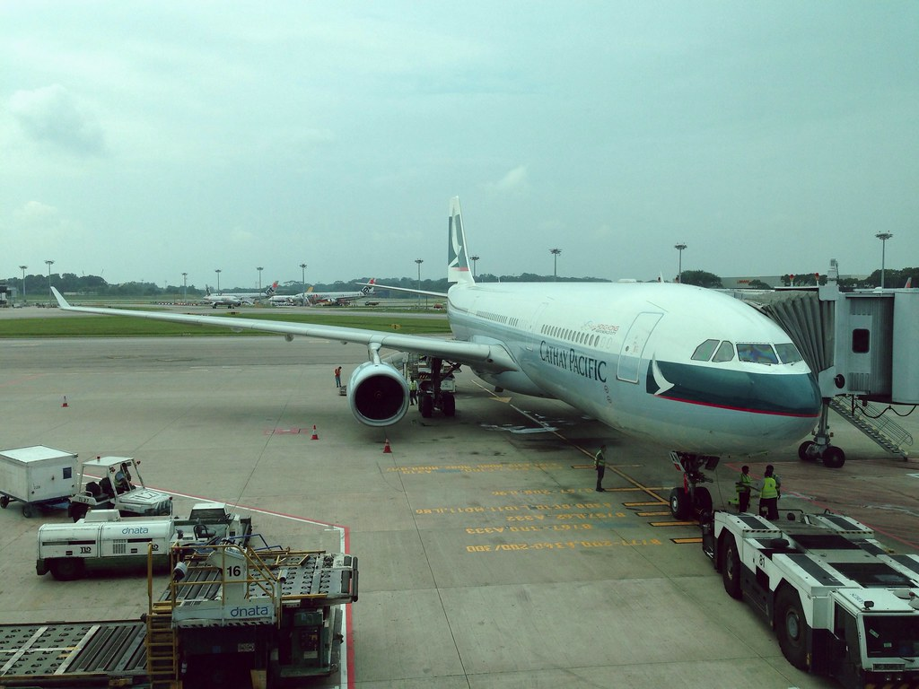 Cathay's Airbus A330 at Singapore