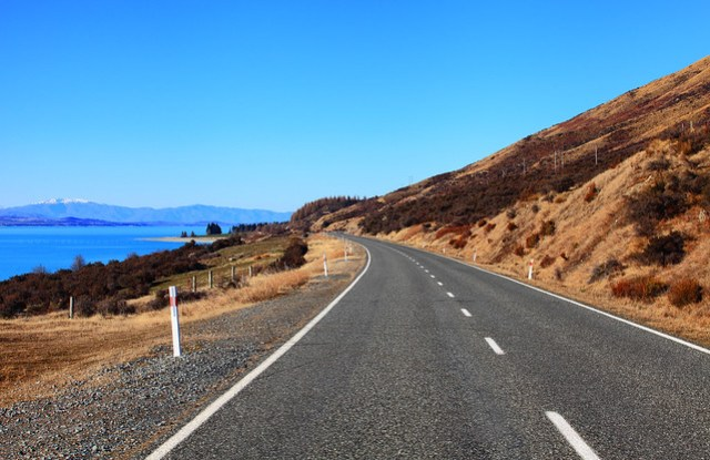 Mount Cook Road near Lake Pukaki