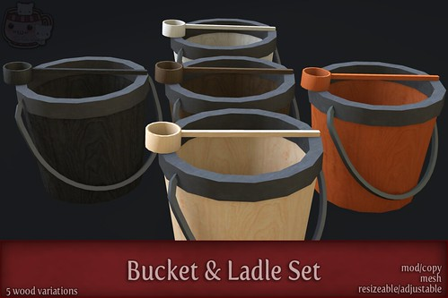 c( TC ) Bucket & Ladle Set - poster by Sei / {Lemon Tea} / c( Two Cats )