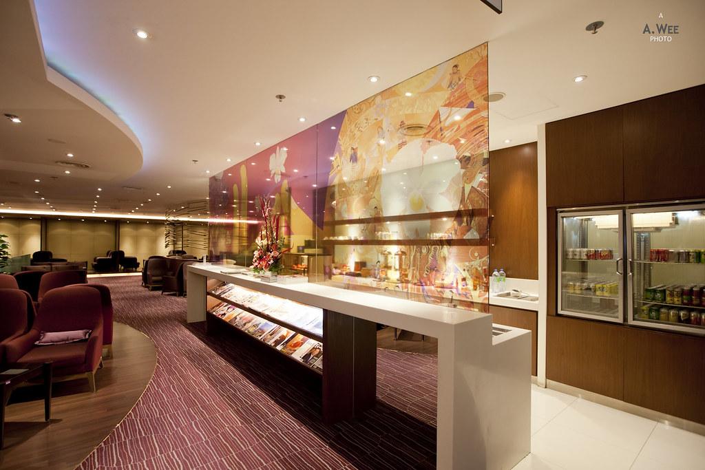 Inside Thai Airways Lounge