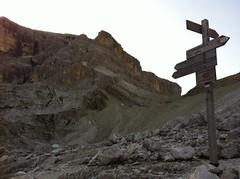 Wegweiser Alpinisteig, Richtung Eissee