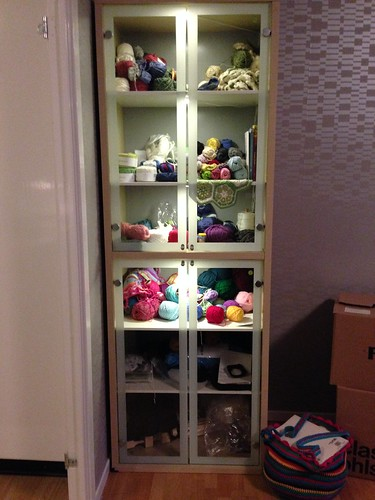 Garnskåp / Yarn cupboard