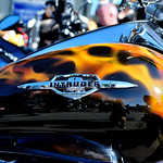 Orange flame motorbike detail