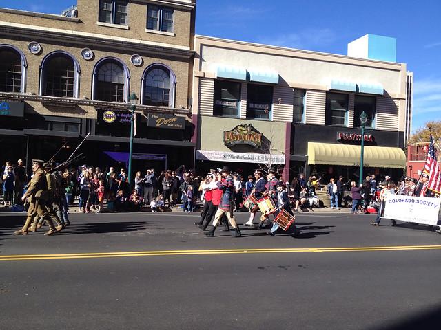 Reenactors In the Veteran's Day Parade