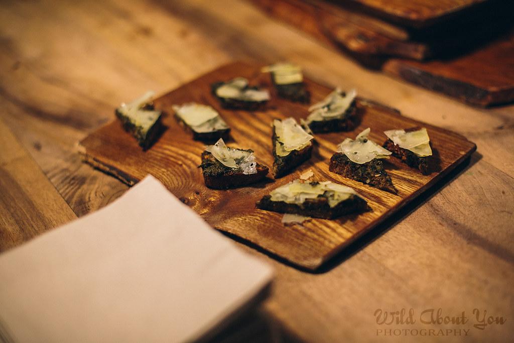 sheepsmilk cheese and herb jam toast