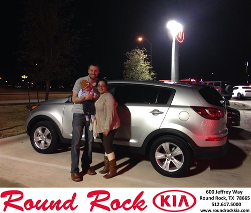 Thank you to Yara & Chris Rutledge on your new 2013 #Kia #Sportage from Jorge Benavides and everyone at Round Rock Kia! by RoundRockKia
