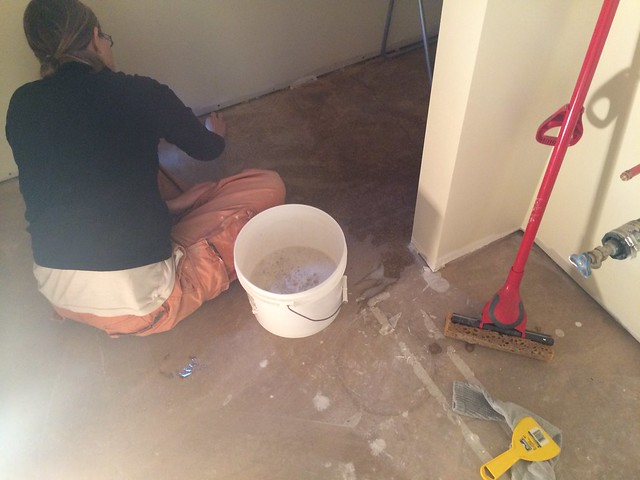 Mar 16 - floor scrubbing
