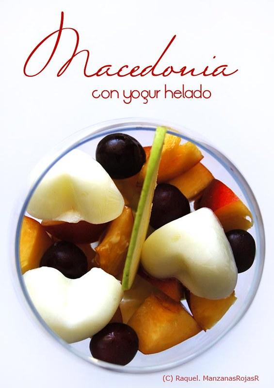 Macedonia con yogur helado