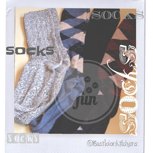 Sep 7 - socks {had to dig these out of the winter bin!  We will be needing them soon} #photoaday #socks  #rhonnadesigns #fun