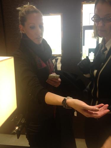 Me wearing Chanel bracelet