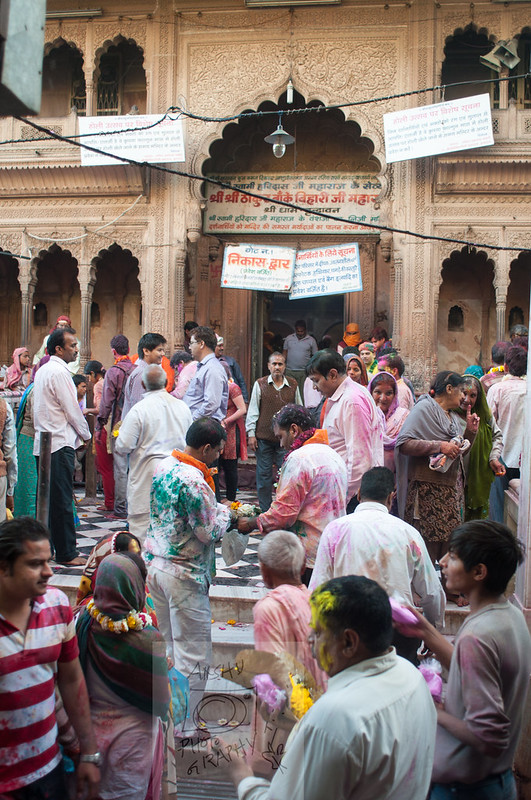 Holi in Banke Bihari