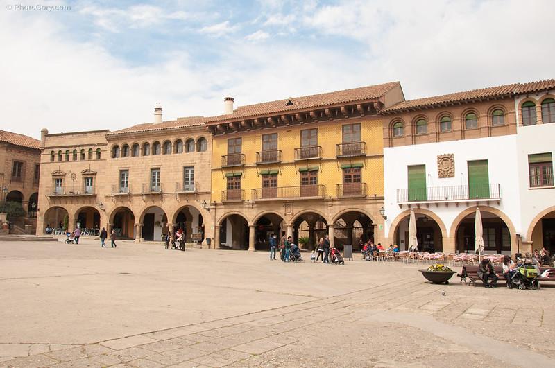 Pueblo espanol in Barcelona
